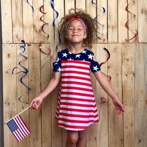 Other - Patriotic Cold Shoulder Dress • Mom & Me Child